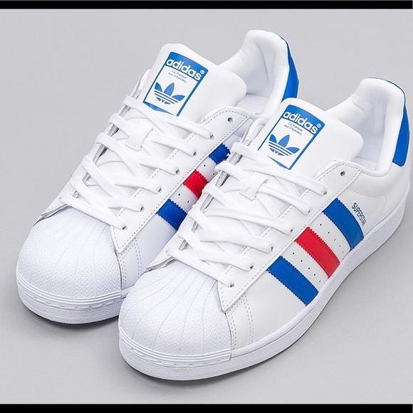 le adidas superstar ii blueredwhite poshmark originali.